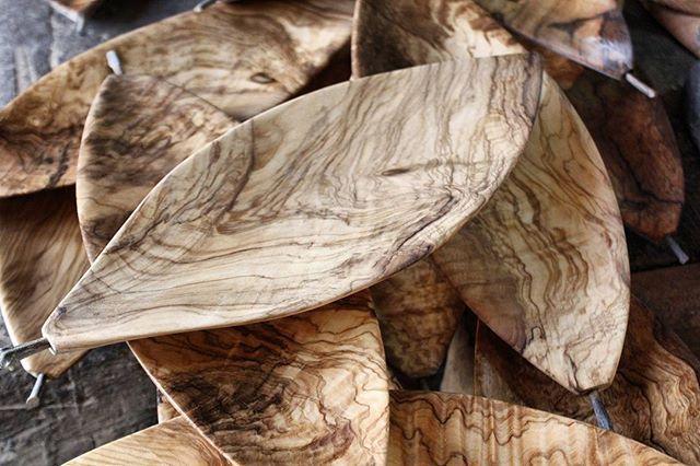 Con l'arrivo dell'autunno cadono le foglie.  Noi, per compensare, ne facciamo in quantità.  #olive #carved #madeira #Madera #contemporary #autumn #finearts #design #wooden #Ostuni #weareinpuglia #puglia  #artigianato #madeinpuglia #livefolk #leaf #woodworking #Wood #woodart #woodcraft #handmadeinitaly #fattoamano #woodwork #Salento #liveedge #foglie #art #woodgrain #dowoodworking #liveauthentic