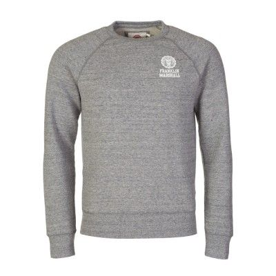 Franklin & Marshall Grey Marl Small Logo Sweatshirt