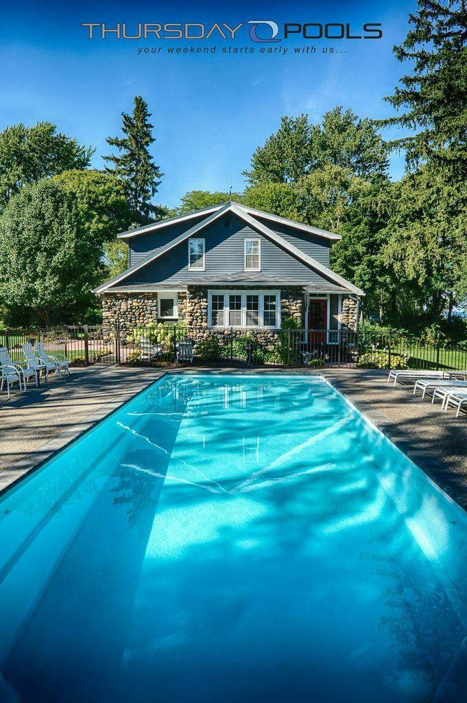 138 best backyard fiberglass inground swimming pools images on ... - Pool Patio Ideas