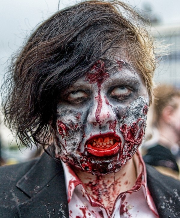 9 best zombie diy images on pinterest halloween prop halloween easy do it yourself creepy halloween makeup to use solutioingenieria Choice Image