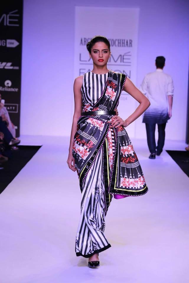 http://www.ArchanaKochhar.com/ Sarees at Lakme Fashion Week 2014