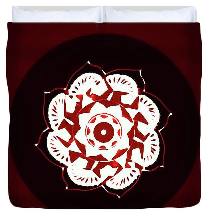 Unique Duvet Cover,Red Black and White Mandala Duvet,Mandala Designer Bedding,Bohemian Duvet,Boho Duvet,Comforter Cover,King,Queen,Full,Twin by HeatherJoyceMorrill on Etsy