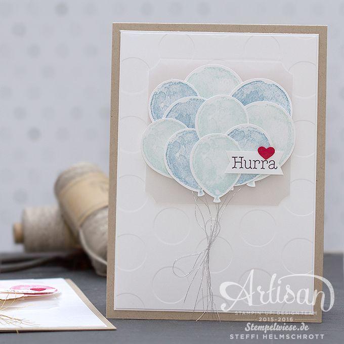 Karte zur Geburt - Stampin' Up! - Baby - Girl - Boy - Mädchen - Junge - Balloon…