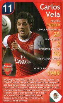 2011 Top Trumps Specials Arsenal #NNO Carlos Vela Front