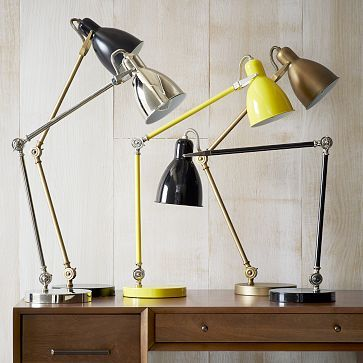 Industrial Task Table Lamps #westelm: I have a new 1 of these in nickel silver if either of you need it...