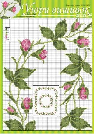 spring is in the air, so it would be totally appropriate to start stitching some delicate flower patters. Took this ones from http://dianaplus.eu/cross-stitch-patterns-mini-edition-issue-2382-p-6694.html