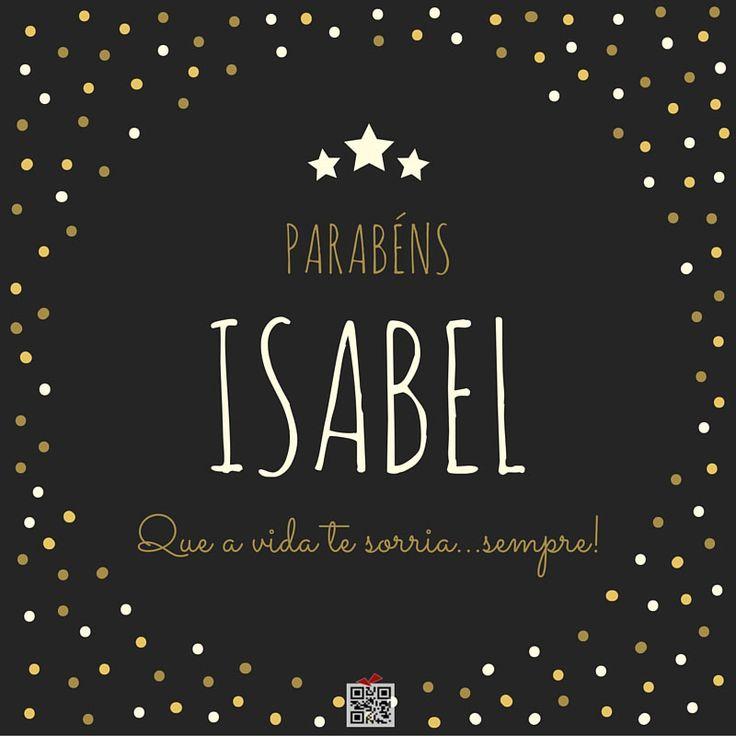 Parabéns Isabel!