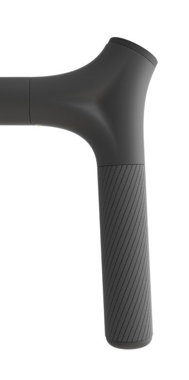 Handle, plastic, black, rubber, texture, matte