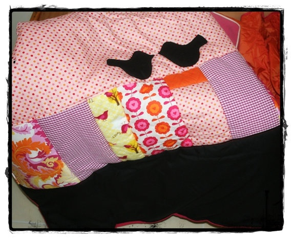 Custom Girl Baby or lap Quilt  in your choice of by tasha2shoes, $95.00