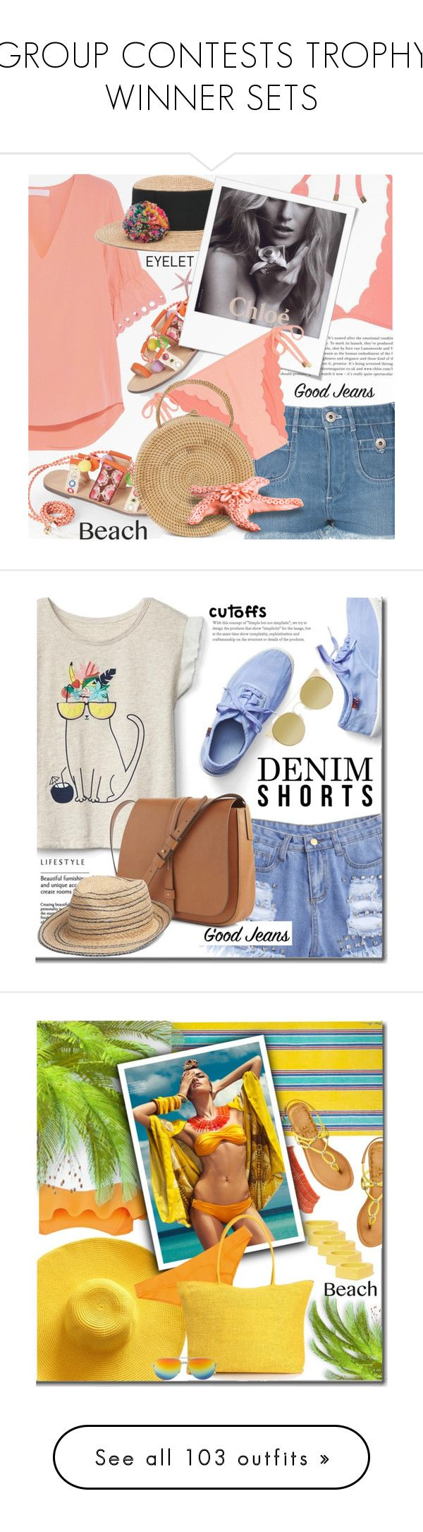"""""""GROUP CONTESTS TROPHY WINNER SETS"""" by shoaleh-nia ❤ liked on Polyvore featuring Chloé, Heidi Klein, Eugenia Kim, Chase & Chloe, Gap, Quay, Lisa Marie Fernandez, Ralph Lauren Home, Marni and Dolce Vita"""