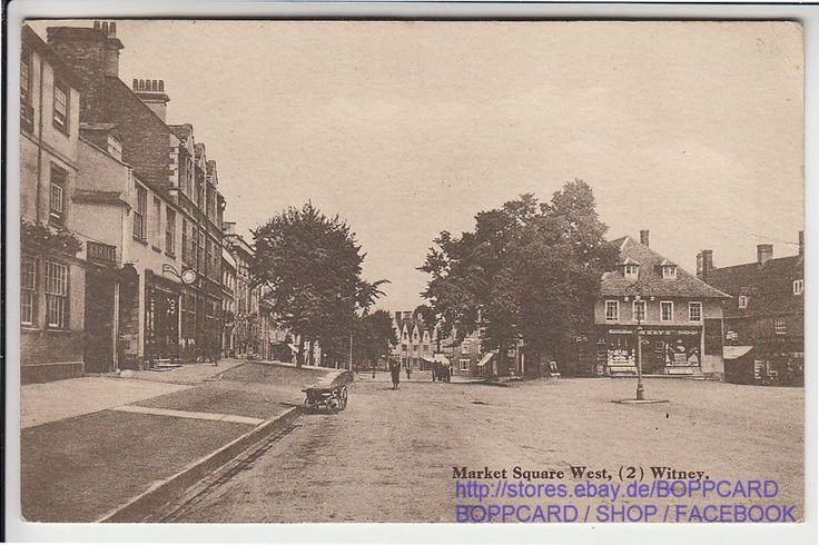 ENGLAND , OXFORDSHIRE , WITNEY , MARKET SQUARE WEST , STAMP 1919 in Collectables, Postcards, Topographical: British   eBay
