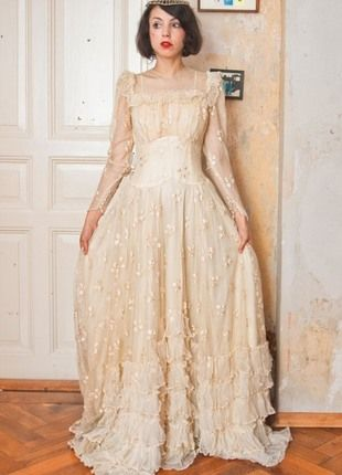 20er Jahre Hochzeitskleid Kleiderkreisel 500 Euro