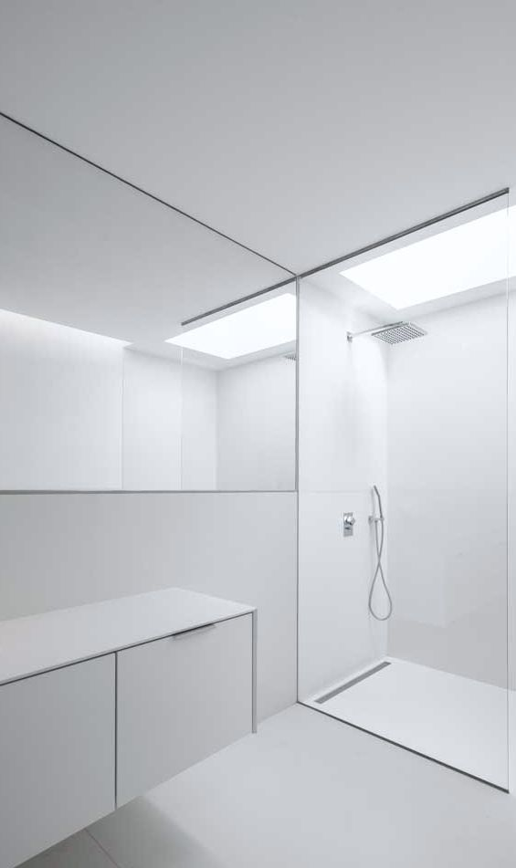 House in Beloura, 2014 – minimalistic bath design | bathroom . Bad . salle de bain | Design: Estúdio Urbano Arquitectos |