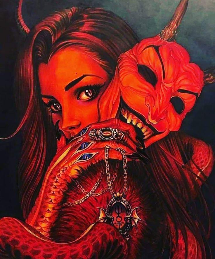 Pin by Cora Rose on RED | Beautiful dark art, Dark art