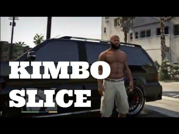 KIMBO SLICE STREET FIGHTING IN THE HOOD  GTA V