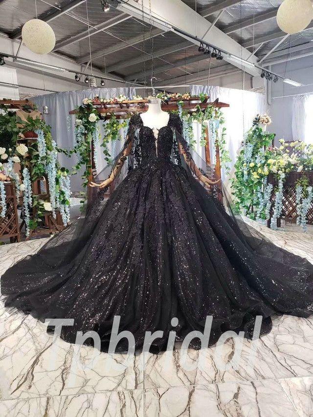 Black dresses for women Sequin black dress Formal dress for women Black lace gown Handmade dress Black evening dress Halloween dress