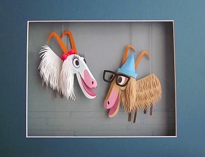 """Sound of Music"" goat puppets   Megan Brain"