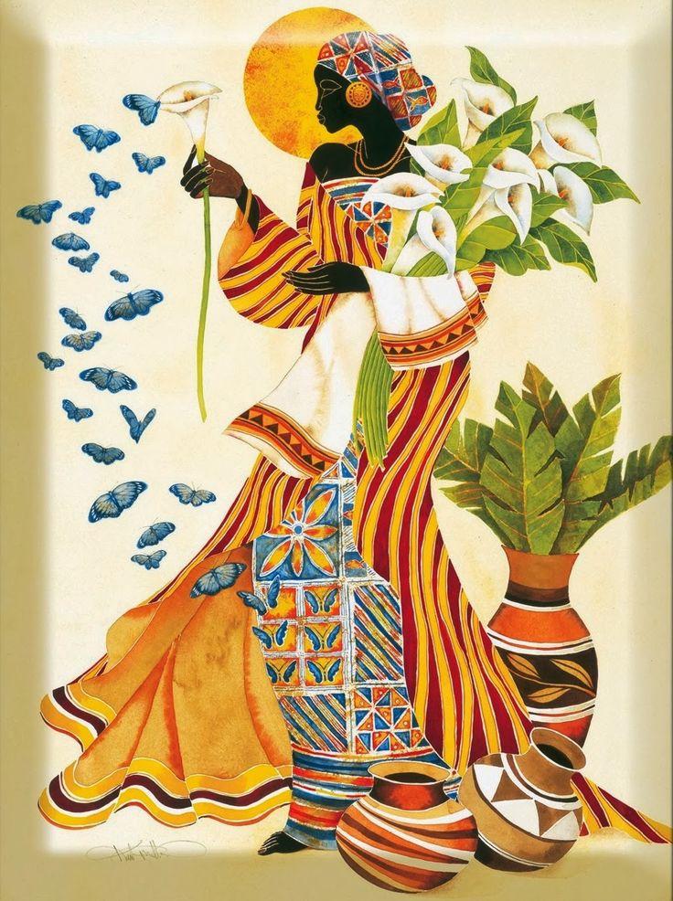Cuadros Modernos Pinturas : Pinturas al Óleo de Negritas, Pinturas Decorativas