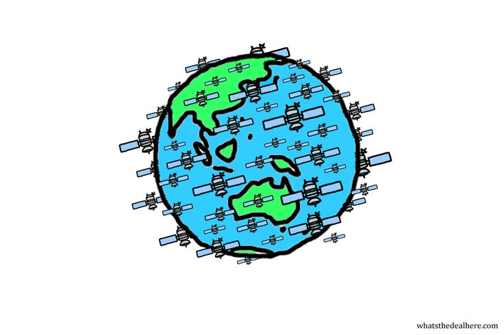 There are a LOT of satellites orbiting Earth. See the link in my bio for a brief explanation. #satellite #space #science