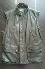 Nova Ralph Lauren Polo Forest Green Fine de couro de pele de cordeiro Colete de caça, L, Novo Sem Etiquetas
