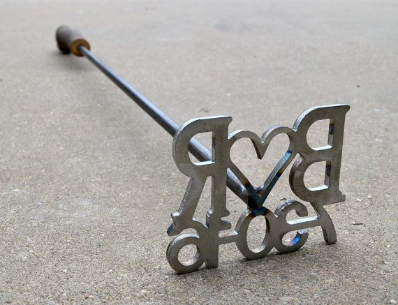 Custom Branding Iron with Date and Initials - Wedding branding iron, anniversary gift, rustic decor