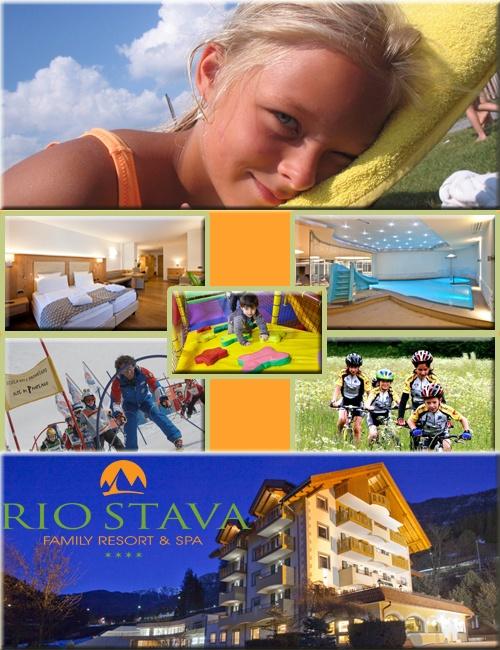 Rio Stava Family Resort & Spa****  a Tesero (Tn) dove i bambini si divertono e i genitori si coccolano