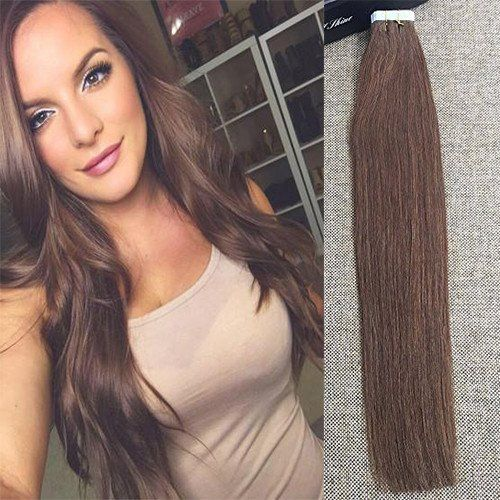 Glue in Hair Extensions Human Hair Real Hair Extensions – Full Shine