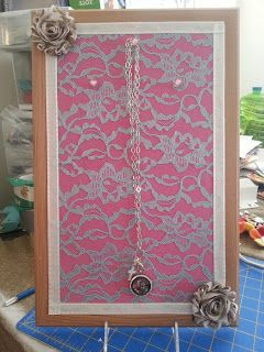 Easy Jewelry Display board for home or Origami Owl parties/events!  tiffanysanderson.origamiowl.com