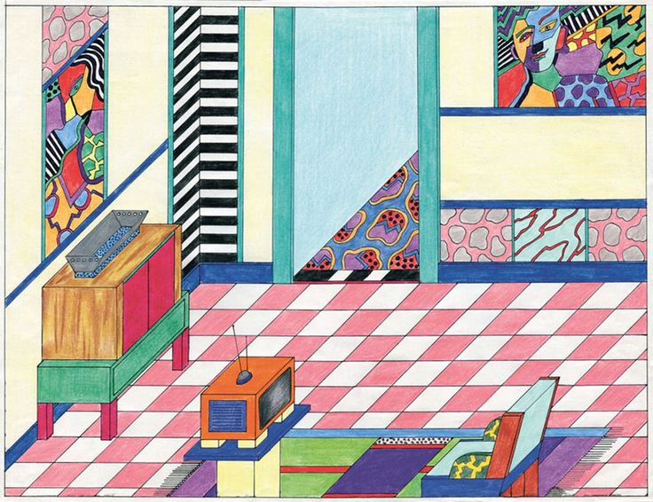 Design is fine. History is mine. — Nathalie Du Pasquier, isometric drawings, 1980s....