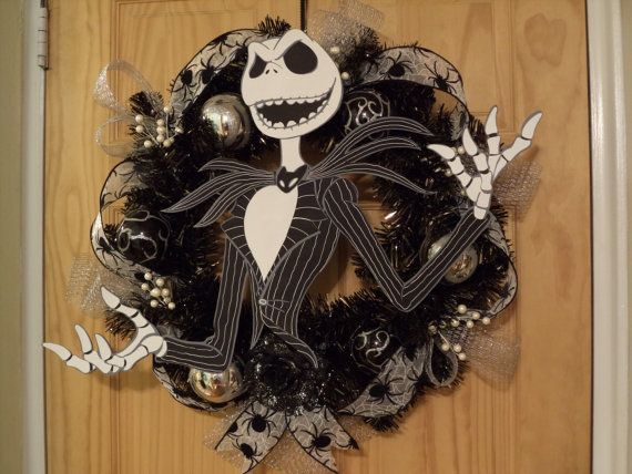 Jack Skellington Halloween Wreath by SuspendedAnimationNY on Etsy