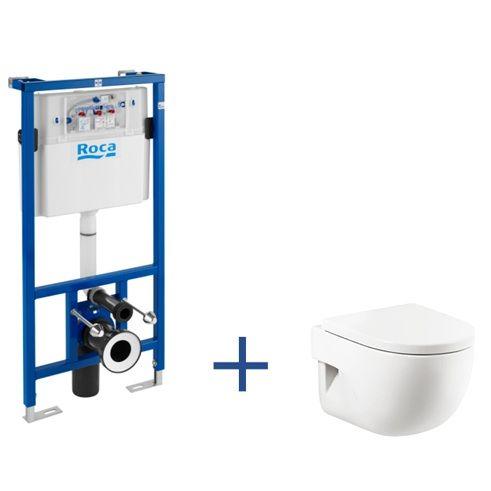 Stelaż podtynkowy Duplo + miska WC podwieszana MERIDIAN Compacto