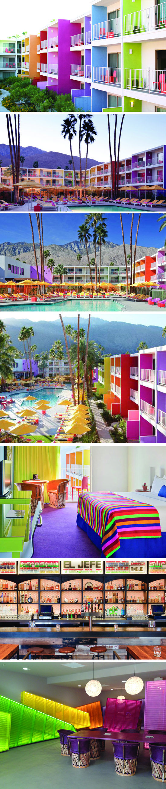 Saguaro Hotel in Palm Springs for your Lady friend weekend getaway.