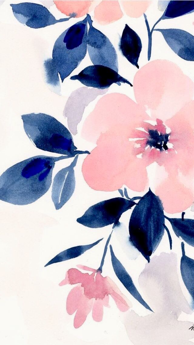 Watercolour Flower Iphone Background Wallpaper Floral Watercolor