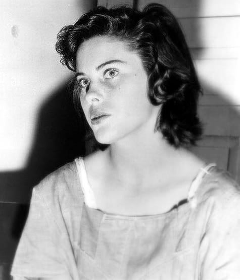 """Lois Margaret Carter, 20, beat her 3 year old daughter to death in """"symbolic revenge"""" against her own mother. """"It seemed as if every time I hit the baby I was striking Mama a whack for me,""""  - 1954 Compton"""