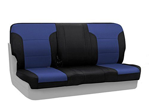 Coverking Custom Fit Seat Cover for Select Honda Civic Models - Neosupreme (Navy Blue with Black Sides)
