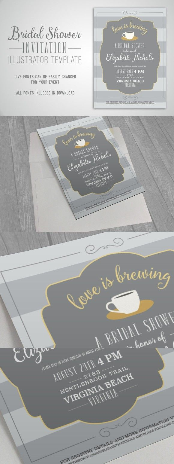 creative bridal shower invitation ideas%0A Bridal Shower Invitation  Wedding Fonts