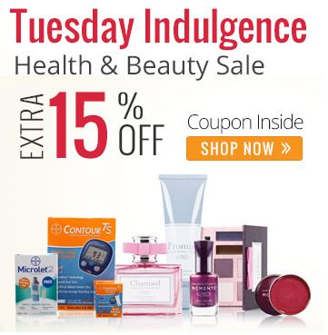 Tuesday Indulgence: Flat 15% OFF On Branded Health & Beauty Products
