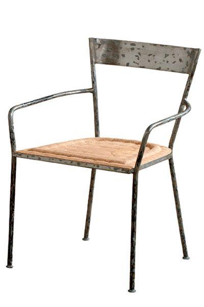 Silla de metal y madera - TELVA