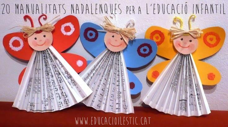 20 manualidades navideñas para la Educación Infantil http://www.educacioilestic.cat/2013/11/20-manualitats-nadalenques-per.html