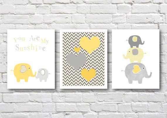 Elephants nursery art, instant download, printable nursery art, elephant nursery decor on Etsy, $14.53