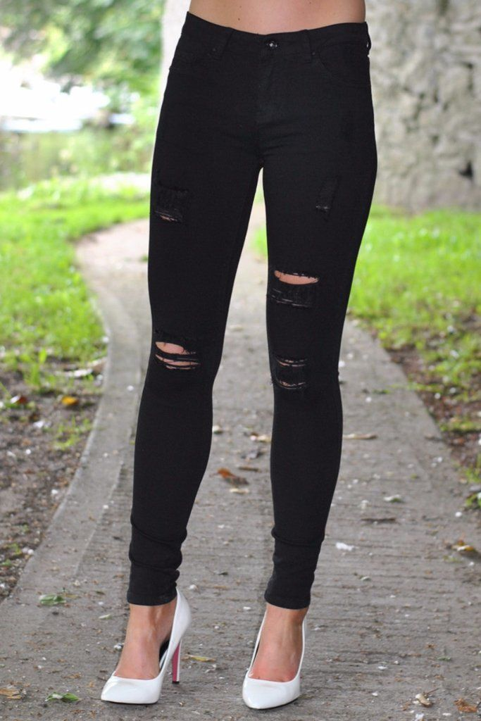 Casey Black Ripped Jeans