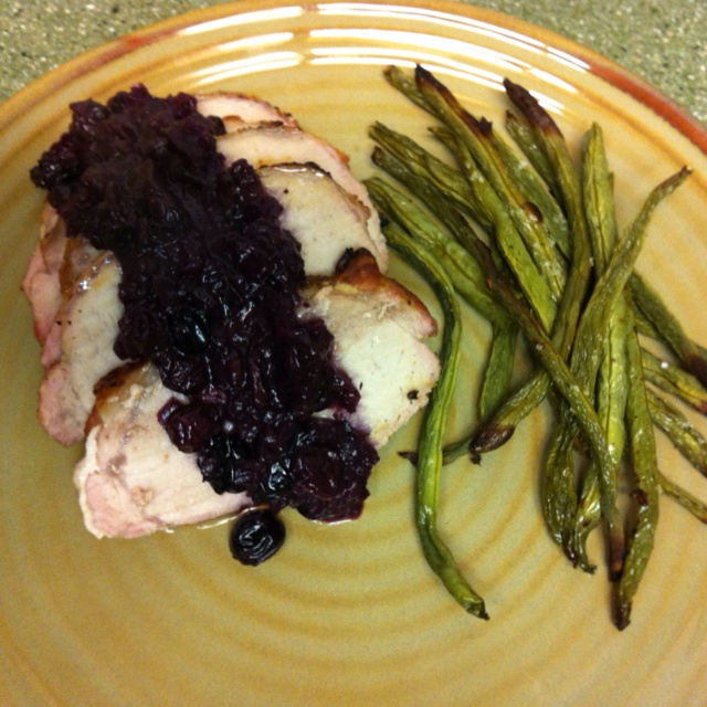 Paleo Roast Pork with Blueberry Port Sauce