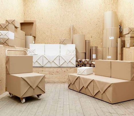 Stackable Soft Parcel Furniture Set Wrapped in Fabric | Designs & Ideas on Dornob
