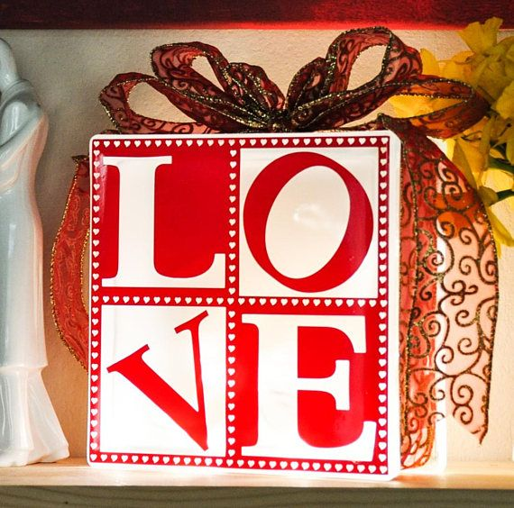 Love a simple four letter word, but it means so much and now you can place Love in your home creating a lovely modern nightlight glow in any room in the house. So if you want a little Love in the Kitchen or warming up the Bedroom the choice is yours.  These blocks are perfect as an occasional light, as a nightlight for your home, or a gift for friends or family. Lovingly handmade to order in Worksop, Nottinghamshire and shipped across the entire UK.