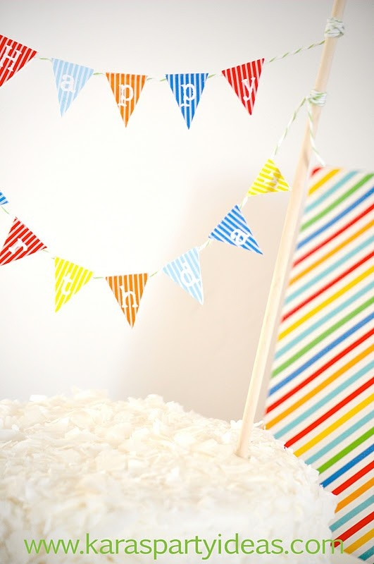 Free Download Printable Mini Pennant Bunting Banner For