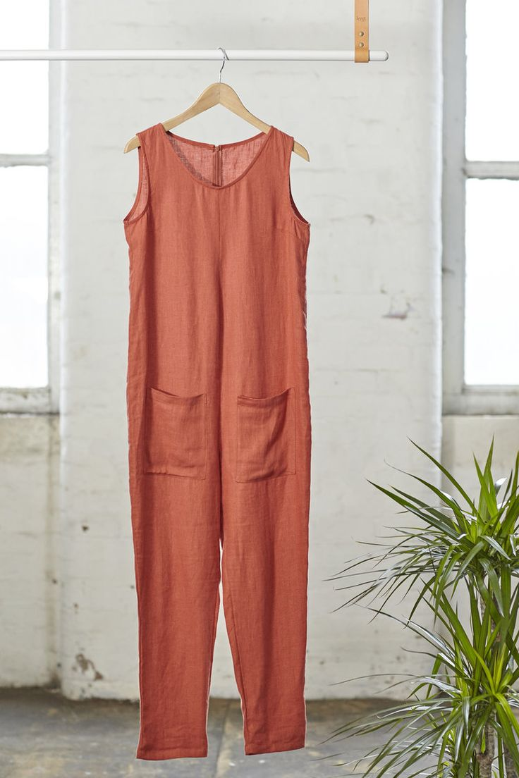 Our best-selling Sia jumpsuit is back with a bang this SS17, in a vibrant burnt orange colour way as well as our traditional navy. The Sia jumpsuit fits oversize and features a dropped crotch and optional leg length to turn-up. The wide open neckline allows collar bones to elegantly peep through making the Sia jumpsuit an excellent choice for larger busts. It also works well layered over tees and shirts.