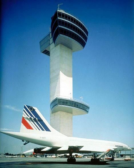 Concorde: Control Tower & Air France Concorde at JFK Airport, New York.  pic.twitter.com/Xl66ZYo8oe