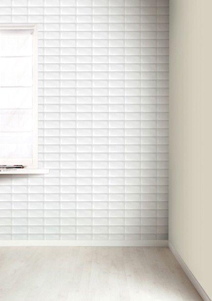 Dit leuke behang zorgt voor een grafische uitstraling in een ruimte. De ruimte lijkt niet alleen breder vanwege de horizontale lijnen maar ook de schaduw in de hoeken laat het een 3D effect lijken.