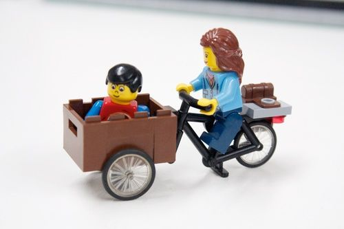 Lego Cargo Bike! Christiania Bike: A LEGO® creation by Sean Kenney : MOCpages.com