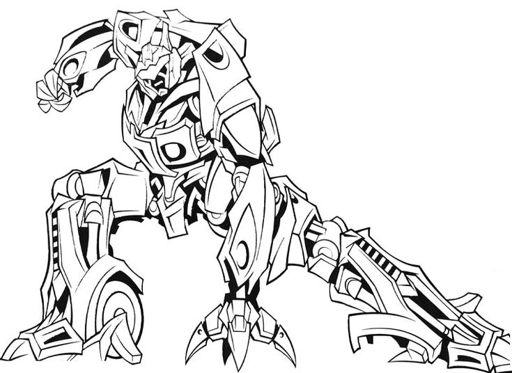 Four arm robot coloring pages